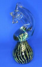 More details for mdina glass seahorse blue /green paperweight - signed, 16cm high *[20315]