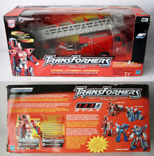 RARE 2001 TRANSFORMERS ELECTRONIC OPTIMUS PRIME FIRE TRUCK RID NEW SEALED !