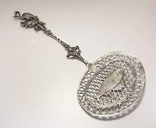 Antique .833 Silver Dutch Pierced Fish Server