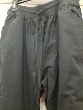 Woman's Black Cargo Scrub Pants-Nwt-3X