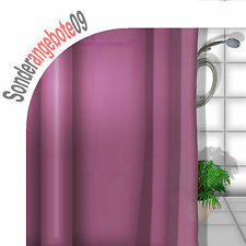DEKO Duschvorhang ca 180x180 cm INCL 12 Duschringe UNI Lila Pink rot bordeaux