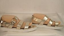 "Topshop ""Humidity"" Metallic Gold Leather Slingback Sandal Women Size 39/8.5 M"