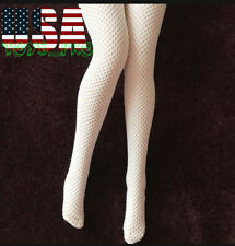 "1/6 Scale Fishnet Stockings WHITE For 12"" Phicen Hot Toys Female Figure ❶USA❶"
