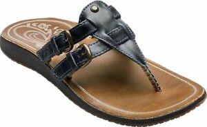 NWT OLUKAI Indigo HONOKA'A Leather Thong Sandals Flip Fops 7