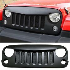 Matte Black Angry Bird Grille Grid with Mesh insert For 07-17 Jeep Wrangler JK