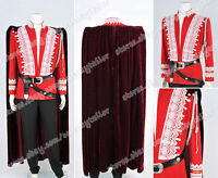 Once Upon a Time Prince Charming JOSH DALLAS Cosplay Costume Red Jacket Uniform