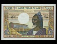 Mali:P-13e,1000 Francs,1973-84 * Man * Sign 8 * UNC *