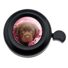 Chocolate Labrador Retriever Puppy Dog Pink Roses Bicycle Handlebar Bike Bell