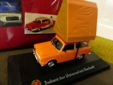 1/43 Atlas DDR Auto Kollektion Trabant 601 Universal mit Dachzelt orange 7230 ..