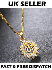 Gold Muslim Allah Arabic Islamic Sun Necklace God Jewellery Gift Pendant Chain