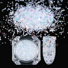 Nail Art Glitter Powder Dust UV Gel Acrylic Powder Nails Christmas Sequins F9J2