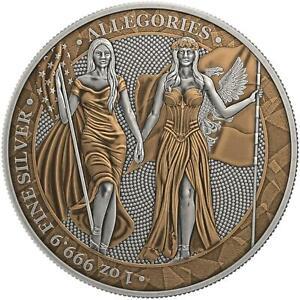 Germania 2019 5 Mark Columbia & Germania - Antique & Copper- 1 Oz Silbermünze