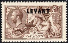 British Levant 1921 chocolate 2/6d  mint SGL24