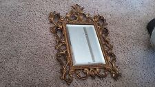 Vintage ornate picture frame antique mirror  wall hanging Victorian style