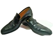 jacinto amores Argentina HIGH END Mens Leather Black Tango Loafers Shoes 10 US