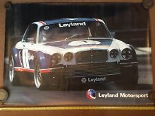 Jaguar Xj6  Racing Layland 1970s Dealer Poster early original  / Brochure Manual