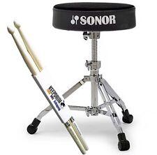 Sonor DT 4000 Drumhocker DT4000 Schlagzeug Hocker + KEEPDRUM Drumsticks 1 Paar