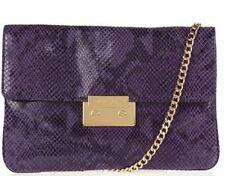 MICHAEL Michael Kors Handbag Sloan Purple Clutch Genuine Leather