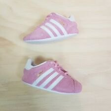Size EUR 18 / US 3K ADIDAS Baby girls Pink Gazelle Crib sneakers shoes