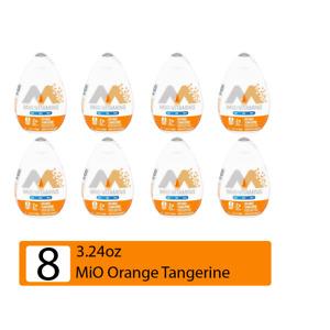 8 Big Bottles Kraft MIO Liquid Water Enhancer Orange Tangerine BB 11/21 3.24oz