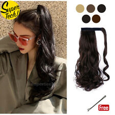 NEW Hair Wrap Ponytail Clip in Pony Tail Hair Extensions Real Natural as Human