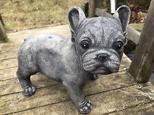 Französische Bulldogge Aus Steinguss Gartendeko