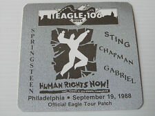 Bruce Springsteen / Sting Etc Human Rights Now Satin/Cloth Backstage Pass