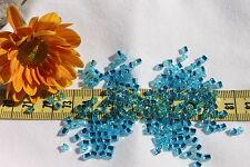 8/0 Triangle Toho Glass Seed Beads 16-Silver Lined Aquamarine/ 28 grams # 23