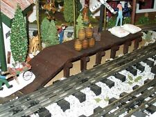 MODEL RAILROAD FREIGHT PLATFORM / Wooden / Train Layout / O gauge / O scale