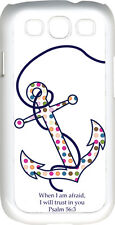 Multicolor Polka Dot Anchor Psalm 56:3 Verse Samsung Galaxy S3 Case Cover