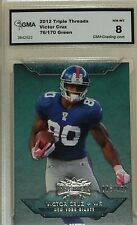 Victor Cruz 2012 Topps Triple Threads 076/170 green background WR NY Giants