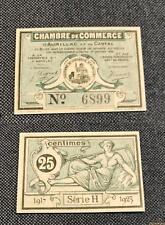 Nécessité - 25 Centimes Chambre de Commerce Aurillac Cantal NEUF Série H 6899