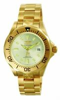 Invicta Men's Watch Pro Diver Automatic Champagne Dial Yellow Gold Bracelet 3051