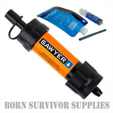 NEW SAWYER MINI WATER FILTER KIT ORANGE - Filtration Survival Purification Straw