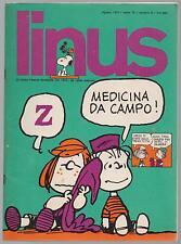 LINUS 8 anno X 1974 peanuts pratt corto maltese dick tracy valentina jacovitti