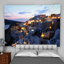 Santorini Sea Wall Hanging Tapestry Psychedelic Bedroom Home Decoration