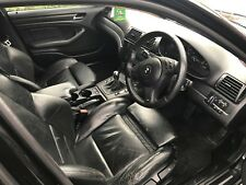 BMW E46 M SPORT SALOON SET OF MANUAL BLACK LEATHER SEATS & DOOR CARDS