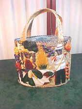 Beautiful Vintage Double Handled Decoratively Designed Woven Purse