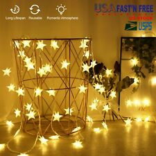 40 Led Star String Lights Battery Operated Bedroom Xmas Fairy Lamp Home Decor