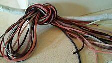 Lot de 10 x 1m cordon daim mixte 2.5mm x1.4 mm