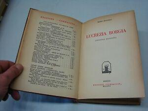 (Mario Buggelli) Lucrezia Borgia 1931 Corbaccio 2 ed.