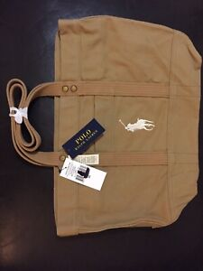Polo Ralph Lauren Beach Bag, Tote, Brand New, Khaki
