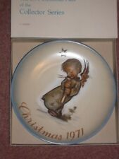 1971 Christmas Plate, by Schmid, West Germany, from Hummel design With Box
