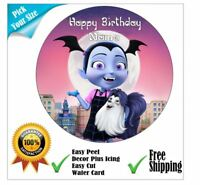 Vampirina Inspired Personalised Edible Cake Topper and/or Ribbon Icing or Wafer