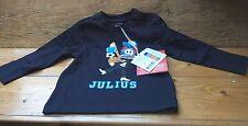 Paul Frank Designer Kids T Shirt/Small Paul/Navy Blue/12 Months/Sports Monkey