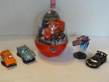 Disney Pixar Cars Gemmy Industries Egg w/Confetti & Sounds, & 4 Cars Figures HTF