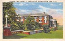 Rome Georgia~Shorter College~Cooper Hall~Sun Dial Court~1936 Linen Postcard