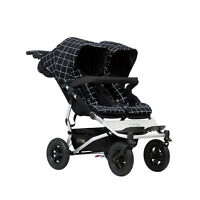 Poussette double Mountain Buggy Duet v3 Grid - 2017 - garantie 3 ans