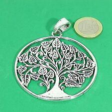 Silver Tibetan Argento Charms Perles Pendant 2 Pendants Tree 2 5/32in M835C