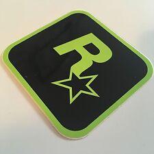 Extremadamente Raro Negro Y Verde Rockstar Games Pegatina-mercancía oficial de Promo